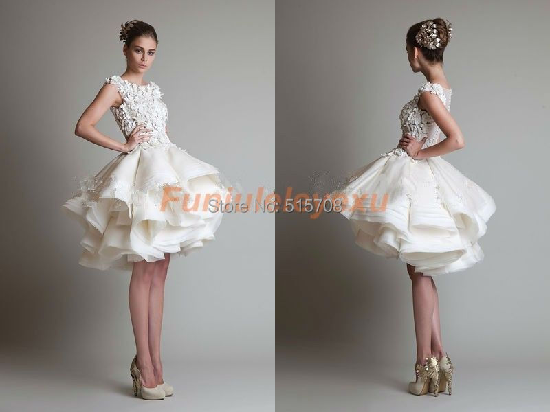 Short Sleeve Simple Beach Wedding Dresses A Line Long: New Arrival Cap Sleeve Scoop Ruffles Lace Organza Multi