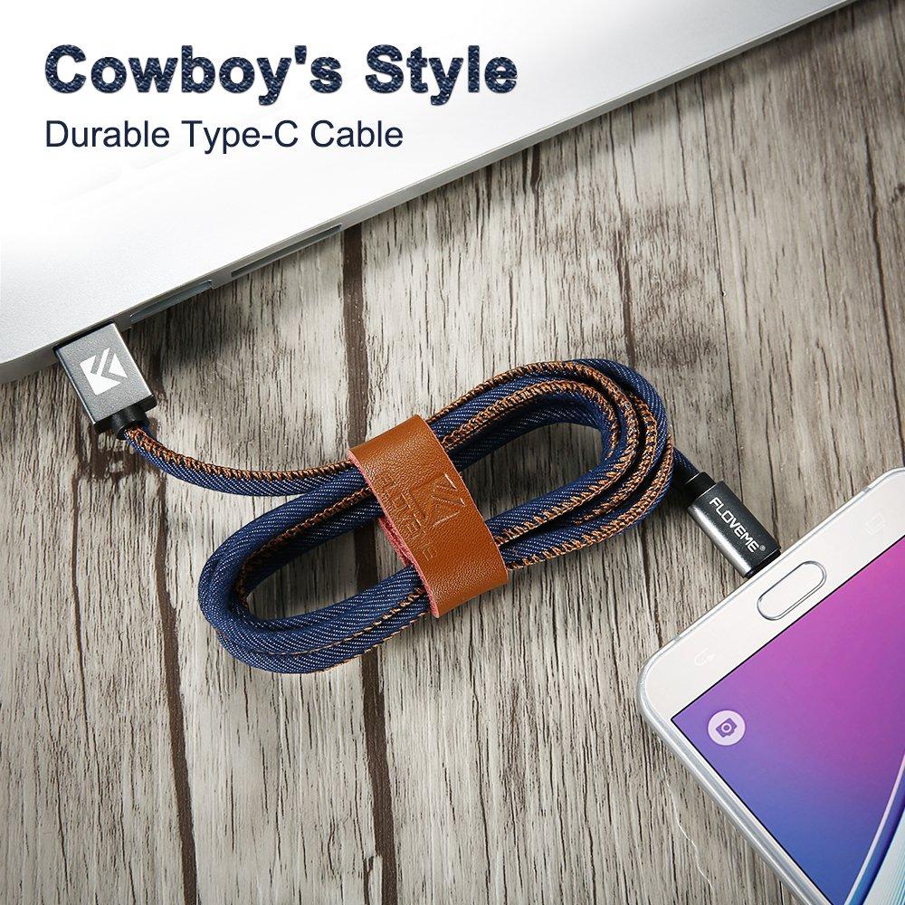 FLOVEME Type C մալուխ Samsung S8 Plus Xiaomi 6 5X Huawei P10 - Բջջային հեռախոսի պարագաներ և պահեստամասեր - Լուսանկար 2