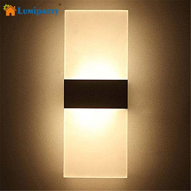 Lumiparty Modern Acrylic 6W LED Wall Sconces Aluminum Lights Bedroom ...