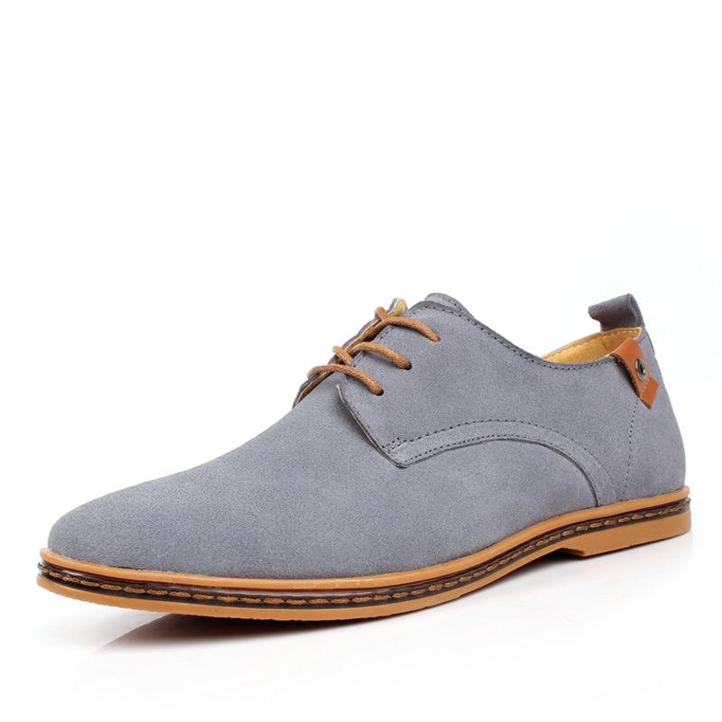 Fashion atas sepatu kasual pria 2018 Flat musim panas baru renda up - Sepatu Pria - Foto 2