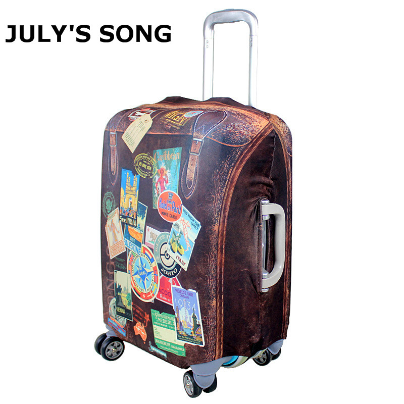 JULY'S SONG Elastic Luggage Protective Cover For 20-28 Inch Trolley Suitcase Dust Protect Cover Travel Accessories Supplies