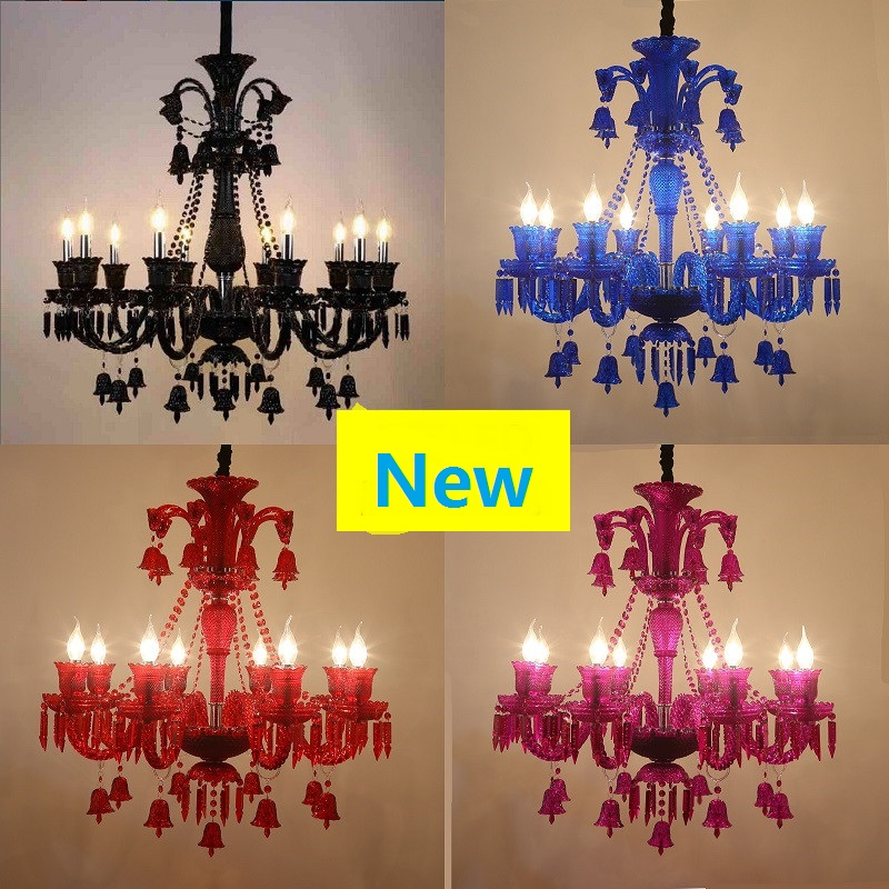 Multicolor crystal 6/8heads cafe coffee lamp chandelier diffuse clothing shop in the hotel restaurant decorative light ZA929055 vintage clothing store personalized art chandelier chandelier edison the heavenly maids scatter blossoms tiny cages