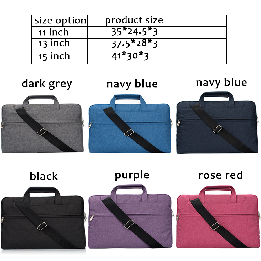 Image 5 - Laptop bag for Dell Asus Lenovo HP Acer Handbag Computer 11 12 13 14 15 inch for Macbook Air Pro Notebook 15.6 Sleeve Case-in Laptop Bags & Cases from Computer & Office