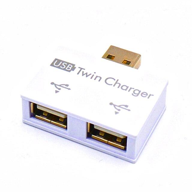 Mini USB Hub để 2 Cổng Sạc Hub Adapter Hot Bán thời trang New USB Splitter đối với Điện Thoại Máy Tính Bảng