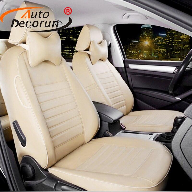 2908a9fc8 AutoDecorun بو الجلود مخصص غطاء مقاعد ل اند روفر ديسكفري 3 سيارة مقعد يغطي  مجموعة الملحقات وسادة مقعد يدعم غطاء