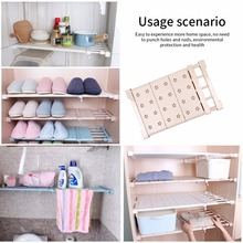 Organizer Storage Shelf Wall Adjustable Closet Mounted DIY Wardrobe/Clothes/Kitchen Holders Racks Plastic Layer/Dividers