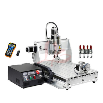 4 Axis CNC 6040 Z-S80 engraver router milling lathe machine with rotary axis and 1.5KW spindle, four axis cnc6040 for 3d cnc 4 axis cnc 6040 z s80 engraver router milling lathe machine with rotary axis and 1 5kw spindle four axis cnc6040 for 3d cnc