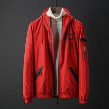 Мужские утолщенные стильные куртки с капюшоном и воротником ветровка пальто 155