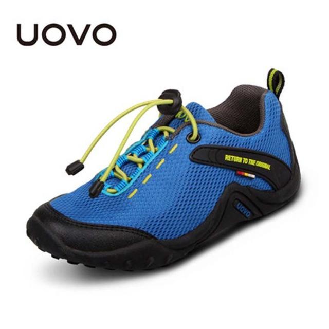 Los niños Muchachas de Los Zapatos Del Barco Mocasines de Malla UOVO Niños Zapatillas de deporte de Marca Informal Al Aire Libre Caminando Zapatillas Deportivas Niños Gommini Mocasines
