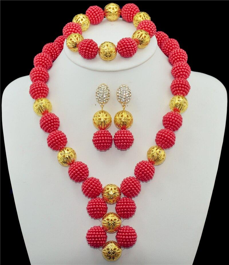 Aliexpress.com : Buy Red pearl jewelry set Africa Nigeria ...