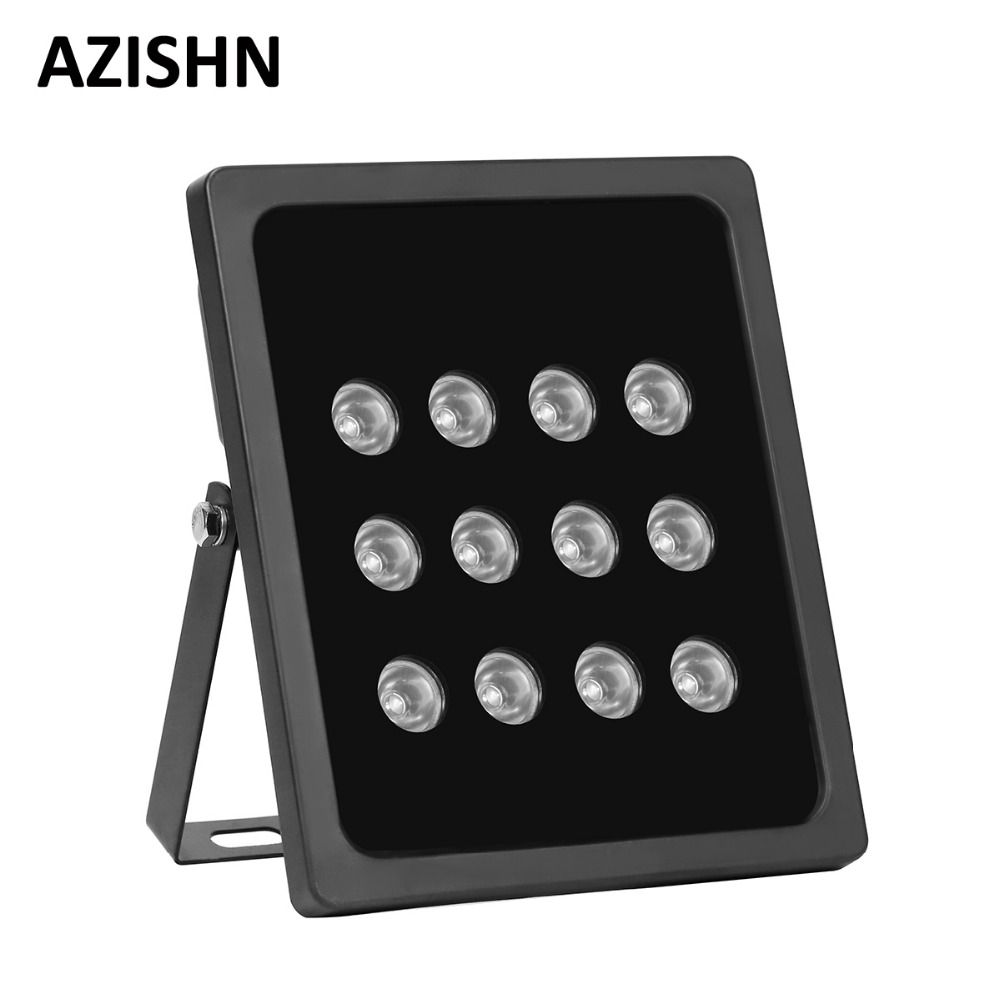 AZISHN CCTV 12pcs Array LEDS  IR illuminator infrared Outdoor Waterproof  Night Vision CCTV Fill Light for CCTV Security Camera azishn cctv 12pcs array leds ir illuminator infrared outdoor waterproof night vision cctv fill light for cctv security camera