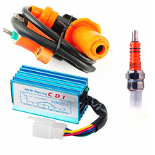 Racing Ignition Coil & 5 pin AC CDI A7TC Spark Plug For 50 70 90cc 110cc 125cc 140cc 150cc 160cc Engine Pit Dirt Bike ATV Quad