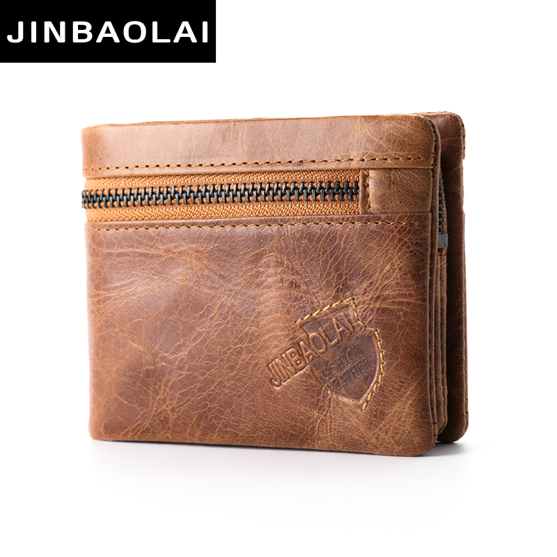 Brand Crazy Horse Genuine Leather Wallet Men Wallets Coin Purse with Card Holder Mini Male with Bag Portomonee Magic Small Walet