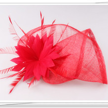 17 colors charming sinamay material fascinator veils cocktail hair accessories bridal hat suit for all season FNR151244