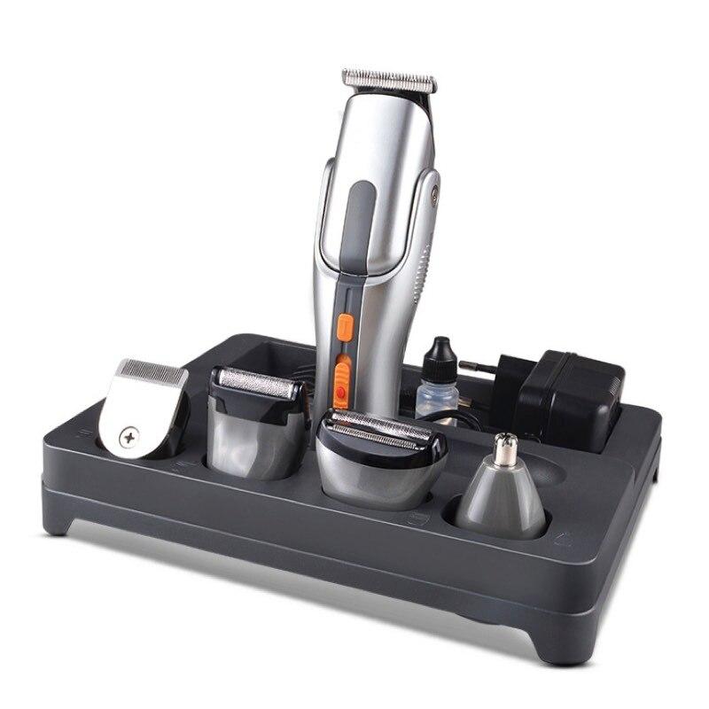 8 in 1 Elettrico Grooming Kit Set Ricaricabile Rotary Trimmer Capelli Tagliatore di Barbiere Taglio Dei Capelli Macchina Rasoio Per Gli Uomini