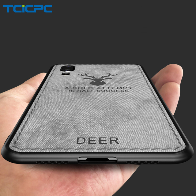 size 40 ff87e 6c1bd US $3.83 20% OFF|Huawei P20 Lite Case Back Cover Silicone Fabric Vintage  Coque TCICPC Slim Marvel Deer Protective Cases For Huawei P20 P20 Pro-in ...