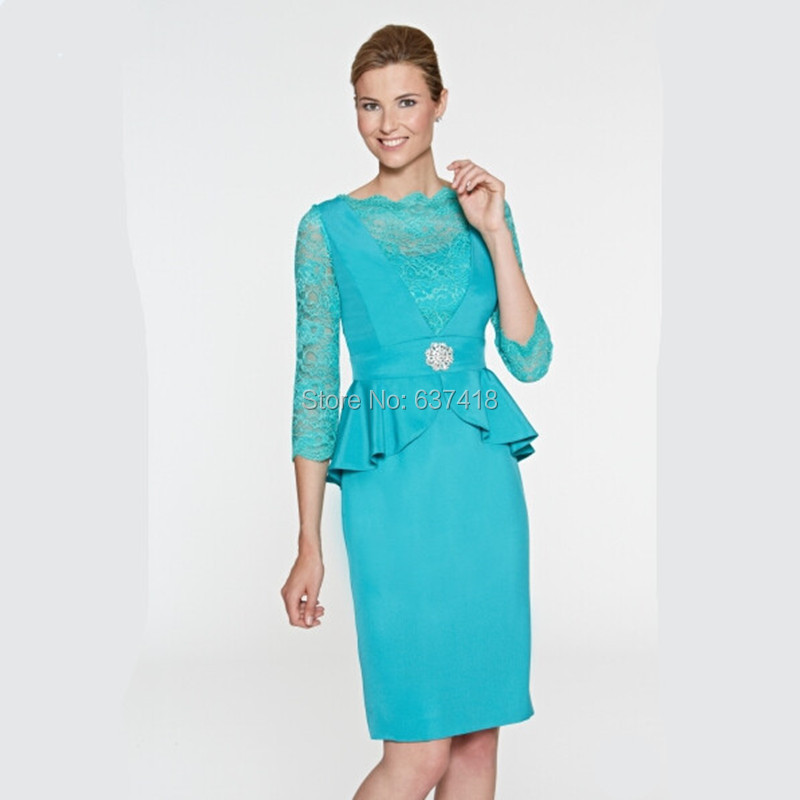Aliexpress.com : Buy Elegant Short Turquoise Green Mother of the ...