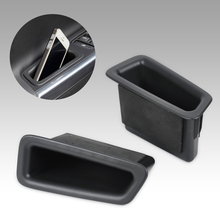 New 2Pcs / Set Car Styling Classic Front Door Container Armrest Storage Box Fit for VOLVO S60 V60 2010 2011 2012 2013 2014 2015