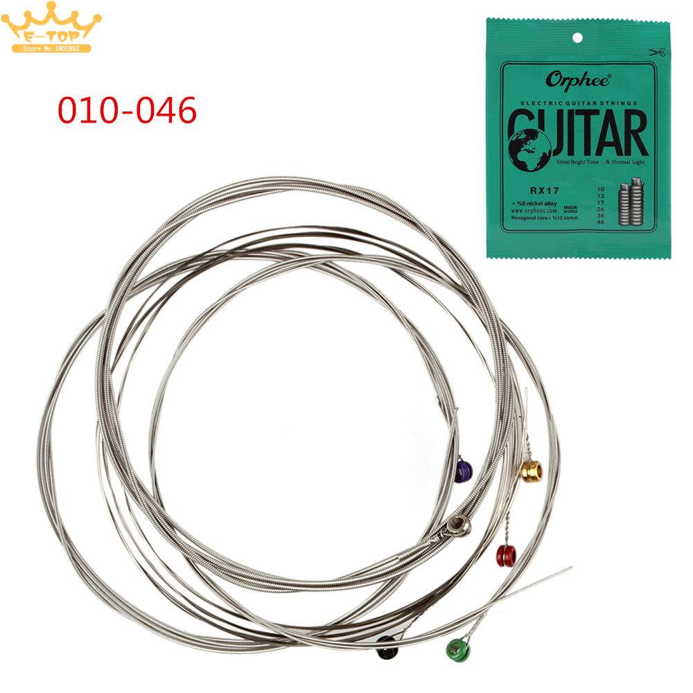 electric guitar string 010 046 nickel plated steel guitar strings great bright tone normal. Black Bedroom Furniture Sets. Home Design Ideas