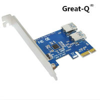Great Q PCIE PCI Expansion Card To 2 Ports USB 3 0 HUB Controller Adapter PCI