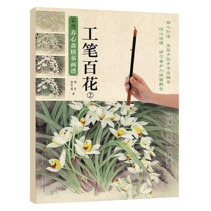 Chinese Painting Book Flowes By Gongbi (II) Meticulous Brush Work Art Beginner
