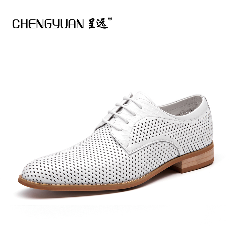Black And White Leather Shoes Men Dress
