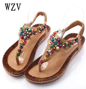d80db7be Zapatos de Mujer Sandalias cómodas Sandalias de verano Chanclas de moda 2018  Sandalias planas de alta calidad gladiador Sandalias Mujer b319