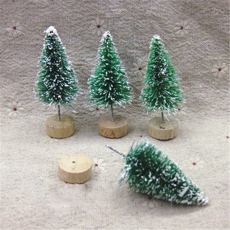 10pcs Lot Decorative Little Christmas Tree Colored Green Blue And