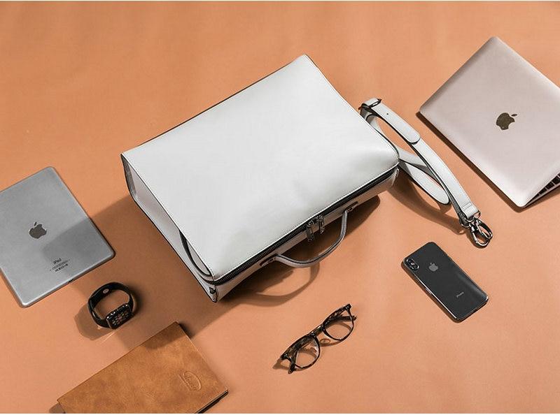 HTB1Nv6ZSQvoK1RjSZFwq6AiCFXan YINUO PU Leather Handbag High Capacity Shoulder Bag For 14inch Laptop Bag Briefcase Waterproof Detachable Summer Bag
