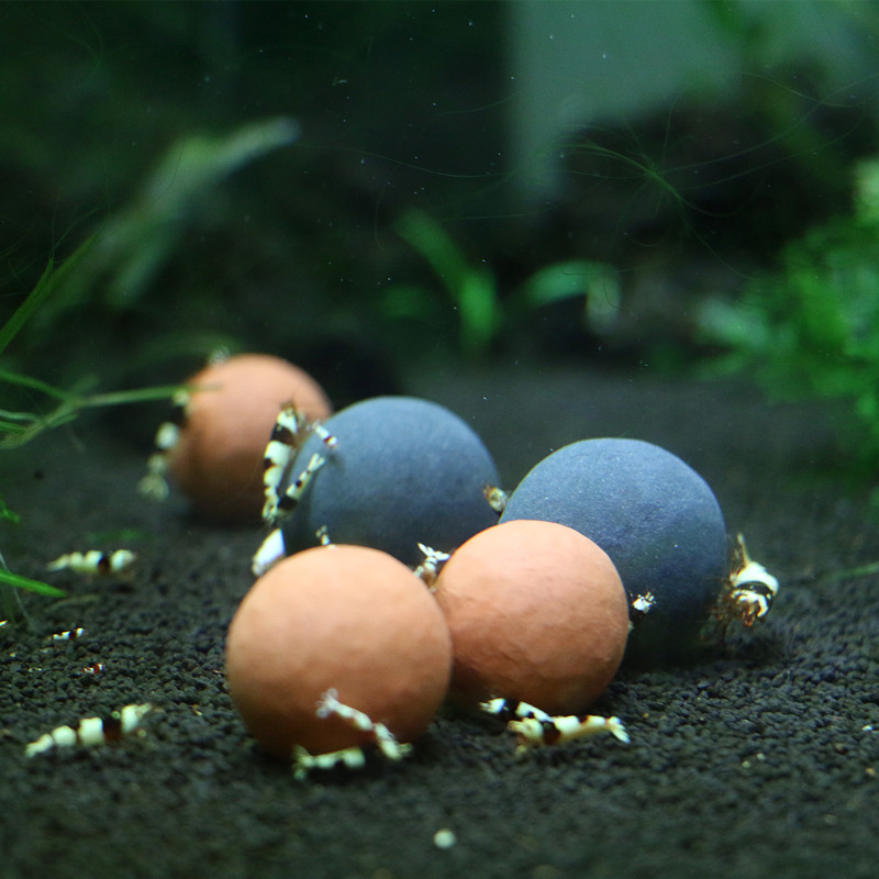 1 Pack Ornamental Shrimp Red Crystal Shrimp Necessary Medical Stone Ball & Mineral Ball Water Purification Tourmaline