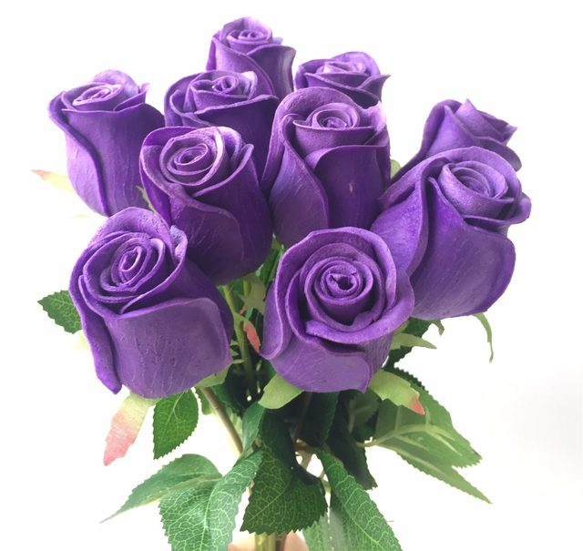 Online shop 10p real touch rose flower pinkblueblackredyellow 10p real touch rose flower pinkblueblackredyellowpurple pu roses artificial rose 43cm for wedding party decorative flowers mightylinksfo