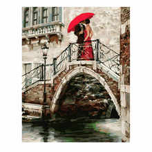 RIHE Kissing Couple Painting By Numbers Ballet Diy Acrylic Coloring Drawing Modular Canvas Pictures For Living Room Artwork Gift