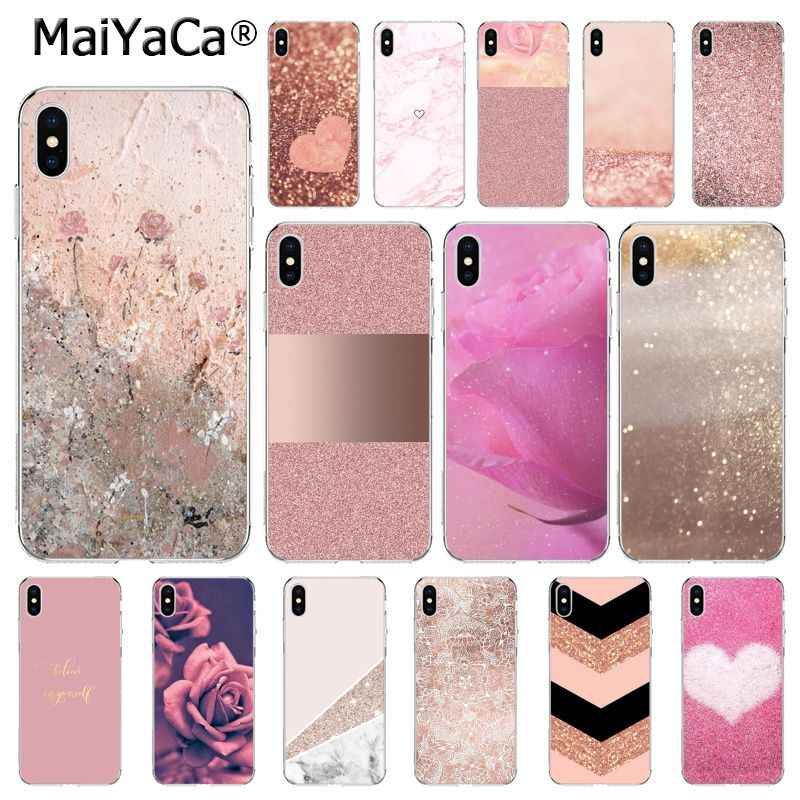 MaiYaCa Amor Do Coração Rose Gold Marble Stripes Capa iphone 11 Pro 11Pro MAX 8 7 6 6S Plus 5 5S SE XR X XS MAX 10 Coque Shell