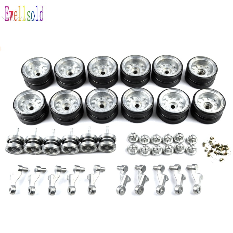 Henglong 1:16 RC tank U.S.M41A3 3839 3839-1 upgrade parts metal wheels set henglong 3839 3839 1 1 16 us m41a3 rc tank upgrade parts metal track metal driving wheels full set free shipping