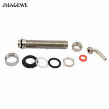 130mm Long Draft Beer Tap G5/8 Shank With Nut Tail Elbow Kit for Homebrew Kegerator Faucet Dispenser Nipple Assembly