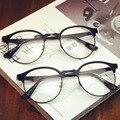 2016 Óculos de Marca Retro Do Vintage Da Moda Meia de Armação de Metal Óptico Frame Óculos de Leitura óculos de Miopia Quadro Das Mulheres Dos Homens Rodada