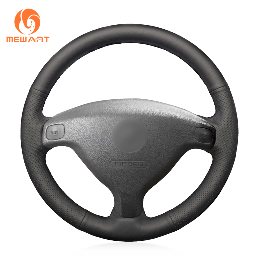 MEWANT Black Artificial Leather Car Steering Wheel Cover for Buick Sail Opel Astra G H 1998-2007 Opel Zafira A 1999-2005 for opel astra g box f70 1999 2005 former car styling led daytime running lights modified yellow glass
