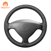 MEWANT Black Artificial Leather Car Steering Wheel Cover for Buick Sail Opel Astra G H 1998 2007 Opel Zafira A 1999 2005