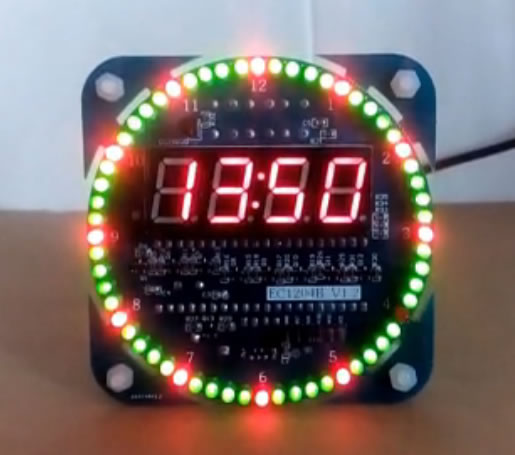 LED 51 singlechip electronic clock DS1302 clock DS18B20 temperature DIY small production suite ds1302 ds1302zn sop8