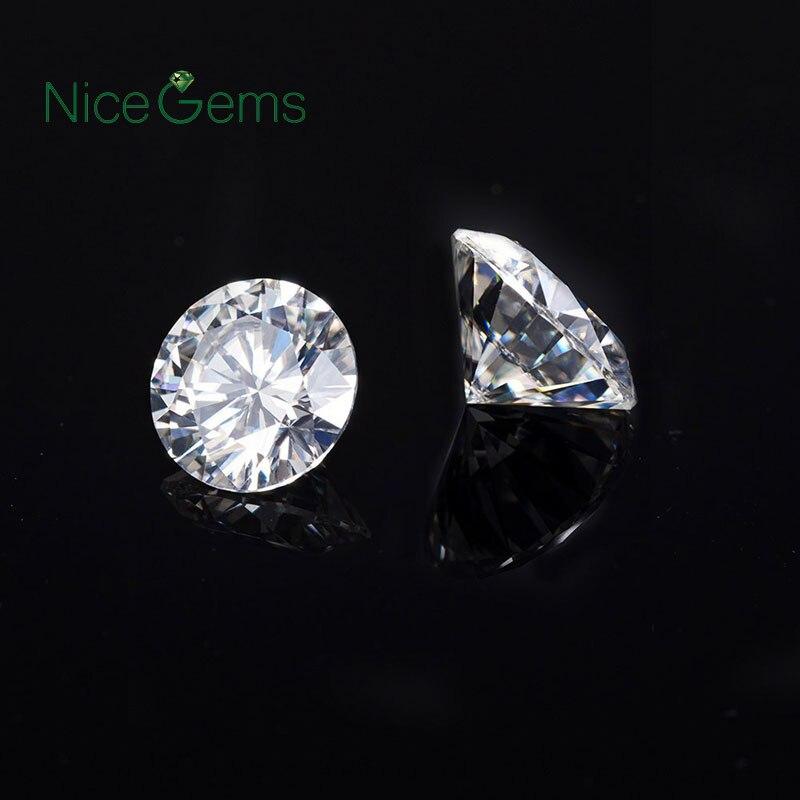 NiceGems Moissanite 1CTW Uitstekende Hearts & Arrows Roud Cut Kleurloos F Kleur Moissanite 6.5 MM Losse Edelsteen Lab Grown Diamond-in Losse Diamanten & Edelstenen van Sieraden & accessoires op  Groep 2