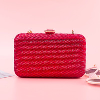 2019 Diamond Cluthes Long Chain Shoulder Bag Ladies Rhinestone Evening Bag Purse Day Clutches Party Banquet Evening Clutch Bags