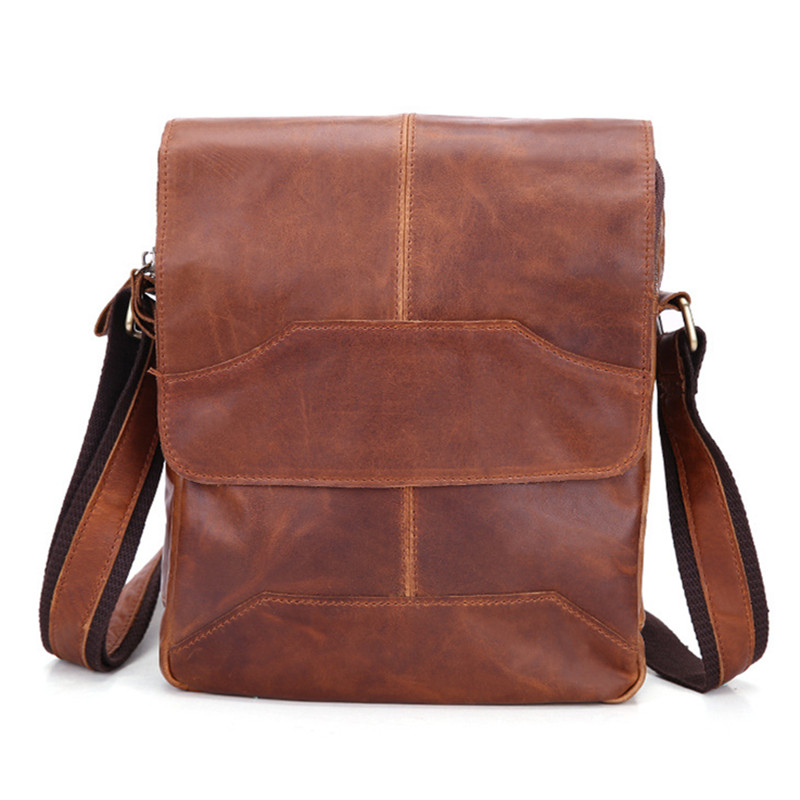 New Arrival Retro Vintage Men Natural Skin Genuine Leather Messenger bag Cowhide Leather Cross-body Shoulder Bag цены