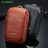 FLOVEME Universal Leather Wallet Case For iPhone 7 5 5s 6 6s Plus Cover For Samsung Galaxy S7 S6 Edge S8 plus Bags Pouch Purse