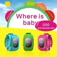 Q50 Safe Kids Smart Uhr Gps-verfolger Englisch, Russisch SOS Notfall GSM Intelligente Handy App Für IOS & Android Q50 SmartWatch