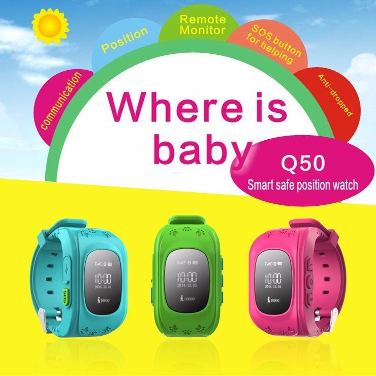 Q50 Safe Kids Smart font b Watch b font GPS Tracker English Russian SOS Emergency font