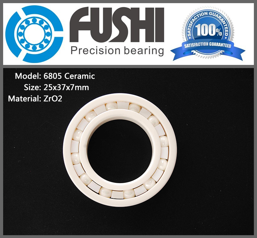 6805 Ceramic Bearing 1 PC 15 45 9 mm ZrO2 Material 6805 CE Full Ceramic SIC