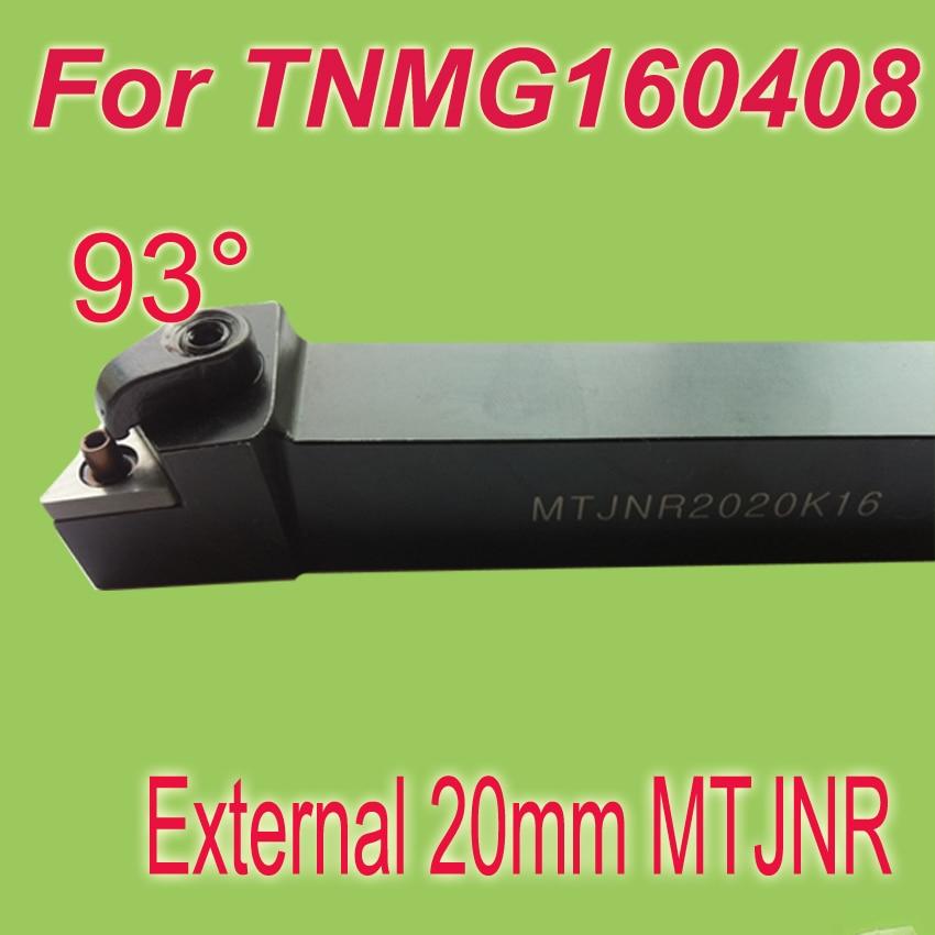 ФОТО Free Shiping MTJNR 20*20*125 SHK 3/4'' 93 Degree External TNMG16 Inserts Holder Metal Cutting Tools Lathe Tool For Lathe Machine