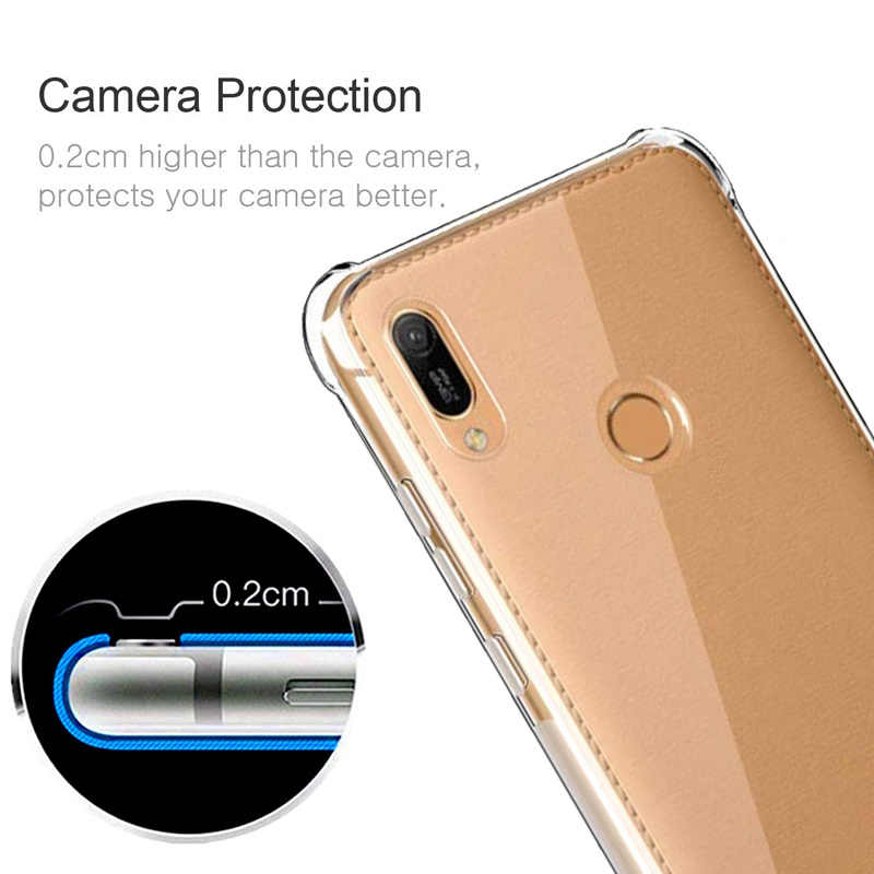 Silicone Case for Huawei Y6 2019 case transparent 360 anti-shock Huawei Y6 2019 Case soft airbag Y 6 2019 cover 6.09''