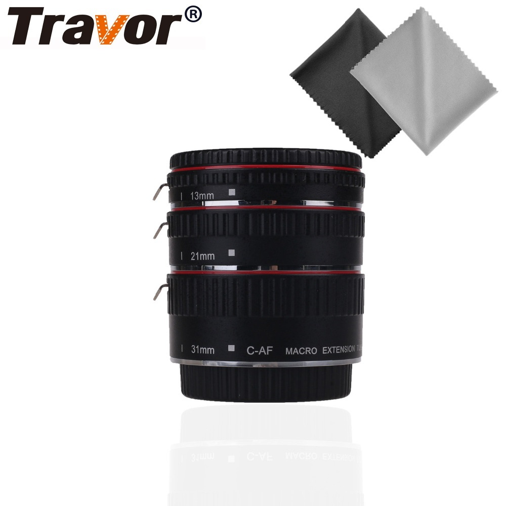 Travor Colorful Metal TTL Auto Focus AF Macro Extension Tube Ring 13MM 21MM 31MM For Canon EOS Series Camera ugreen cable holder organizer 25mm diameter flexible spiral tube cable organizer wire management cord protector cable winder