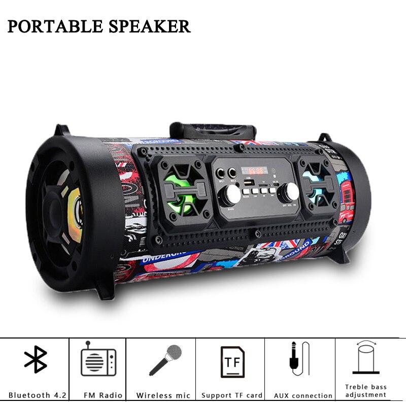 M17 extérieur Portable Bluetooth haut-parleur HIFI FM Radio Move KTV 3D musique colonne son système sans fil Palyer caisson de basses PK Xtreme